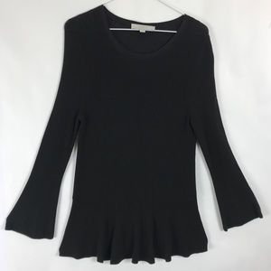 Loft Bell Sleeve Sweater Roundneck Pullover Flare